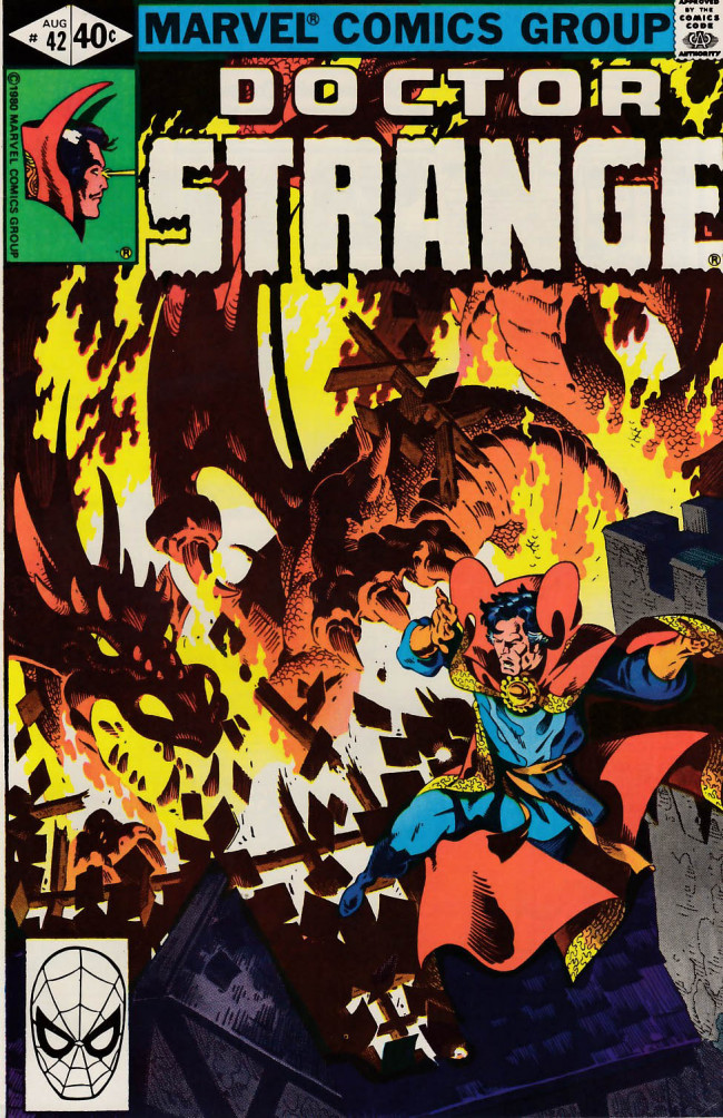 Couverture de Doctor Strange (1974) -42- The black mirror