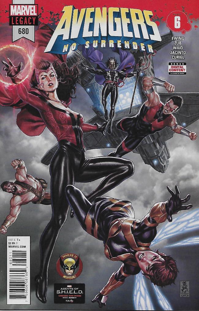 Couverture de Avengers Vol.7 (Marvel comics - 2017) -680- Avengers No Surrender Part 6