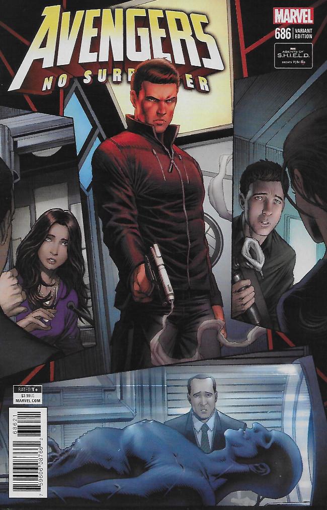 Couverture de Avengers Vol.7 (Marvel comics - 2017) -686A- Avengers No Surrender Part 12