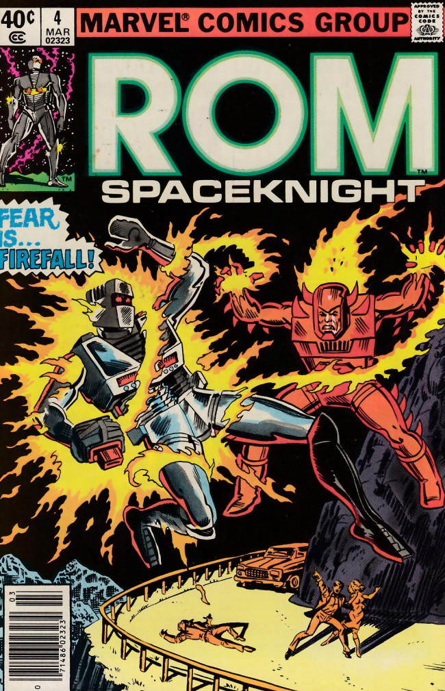Couverture de Rom Spaceknight (Marvel - 1979) -4- The fire, the friend and the foe