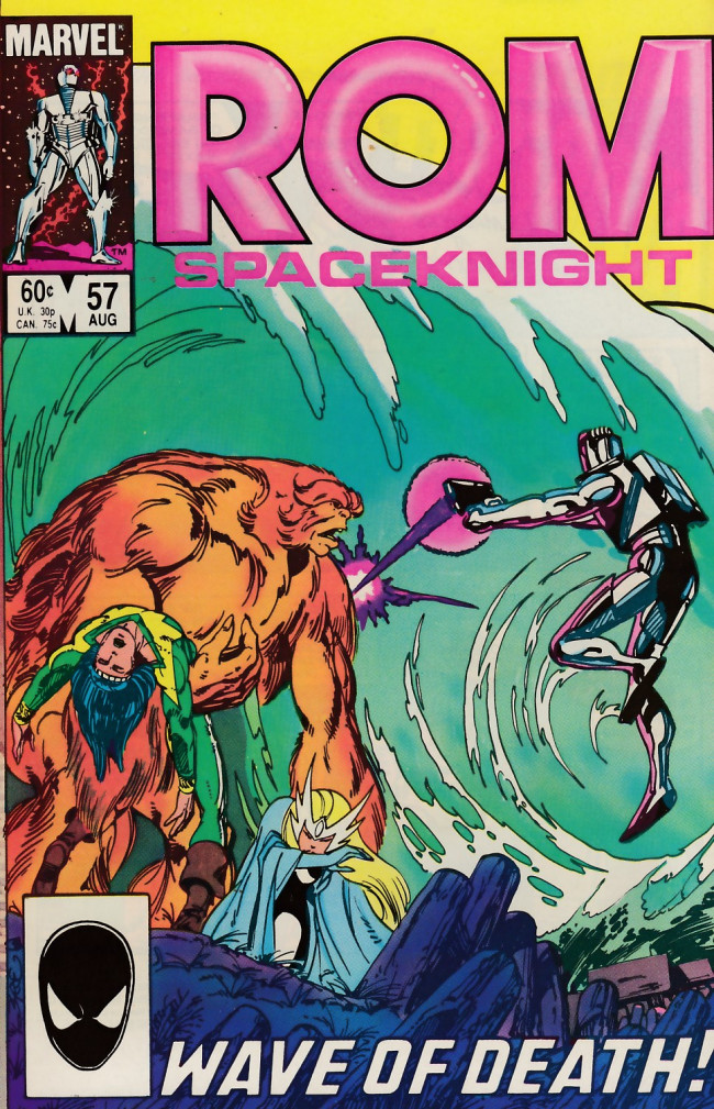 Couverture de Rom Spaceknight (Marvel - 1979) -57- Scene of destruction on every hand