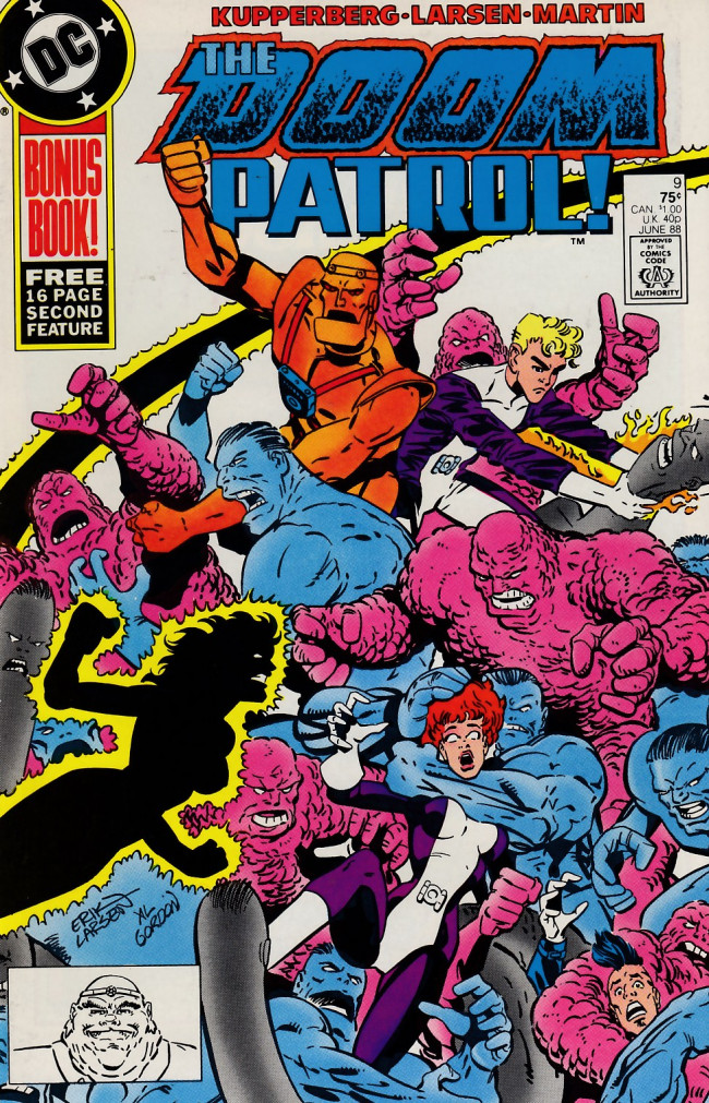 Couverture de Doom Patrol Vol.2 (DC Comics - 1987) -9- It's raining plastic men