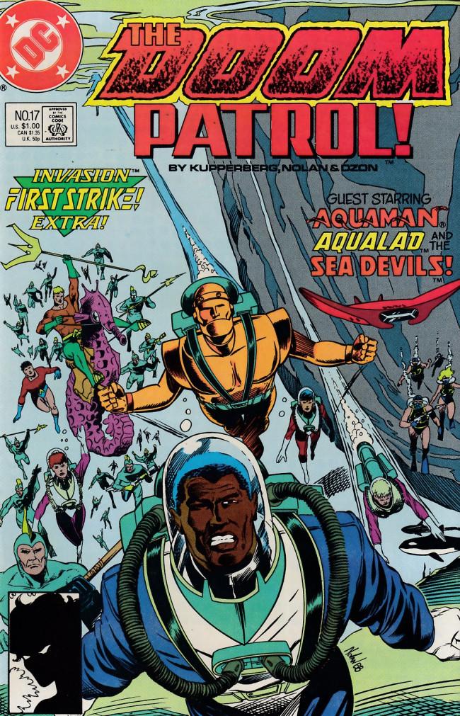 Couverture de Doom Patrol Vol.2 (DC Comics - 1987) -17- From Gil'dishpan With Doom