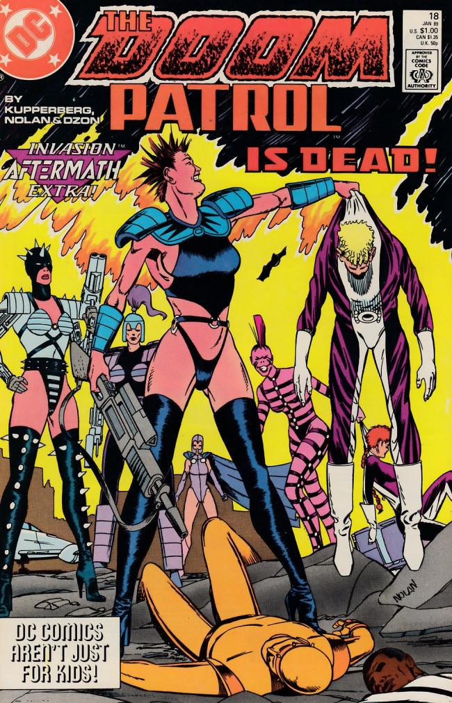 Couverture de Doom Patrol Vol.2 (DC Comics - 1987) -18- Endings... Beginnings!