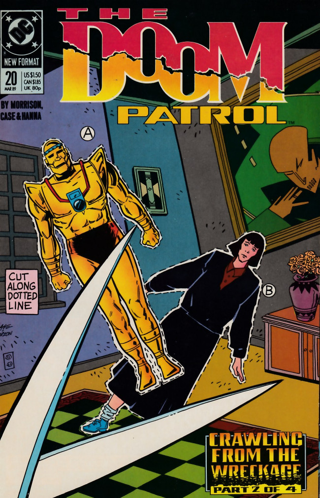 Couverture de Doom Patrol Vol.2 (DC Comics - 1987) -20- Crawling from the wreckage part 2 of 4: Cautionary tales