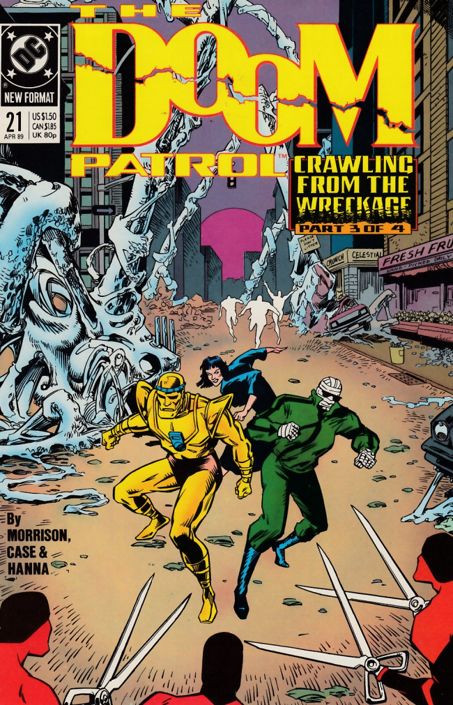 Couverture de Doom Patrol Vol.2 (DC Comics - 1987) -21- Crawling from the wreckage part 3 of 4: Worlds in collision