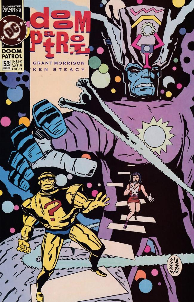 Couverture de Doom Patrol Vol.2 (DC Comics - 1987) -53- And men shall call him Hero