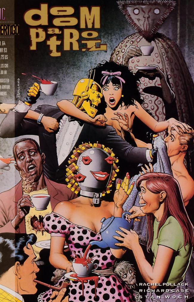 Couverture de Doom Patrol Vol.2 (DC Comics - 1987) -64- Sliding in the wreckage part one: Burn in the curse