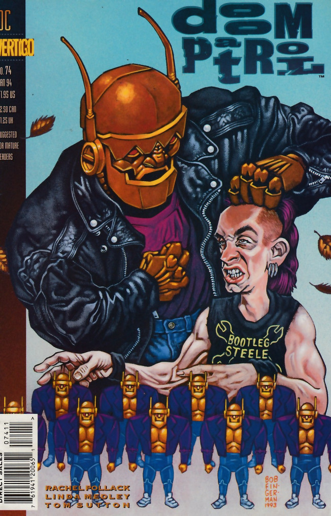 Couverture de Doom Patrol Vol.2 (DC Comics - 1987) -74- Bootleg Steele