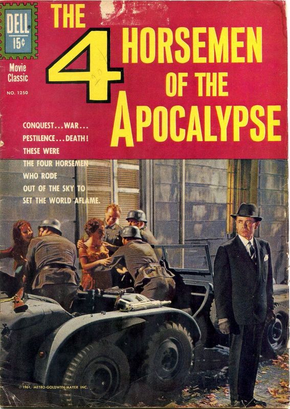 Couverture de Four Color Comics (Dell - 1942) -1250- The 4 Horsemen of the Apocalypse
