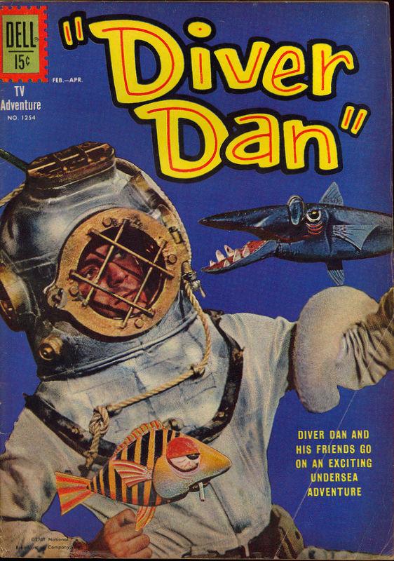 Couverture de Four Color Comics (Dell - 1942) -1254- Diver Dan
