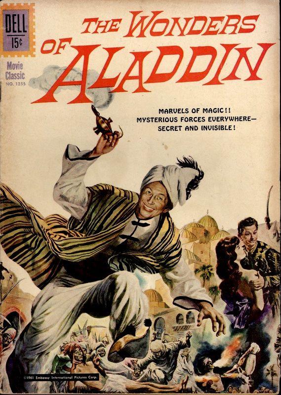 Couverture de Four Color Comics (Dell - 1942) -1255- The Wonders of Aladdin