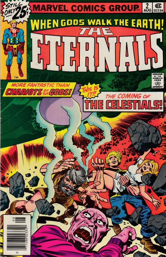 Couverture de The eternals Vol.1 (Marvel comics - 1976) -2- The Celestials!