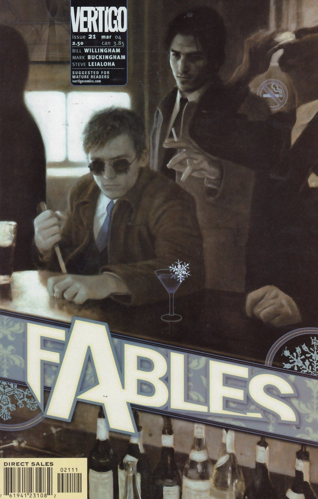 Couverture de Fables (2002) -21- Stop me if you've heard this one, but a man walks into a bar...