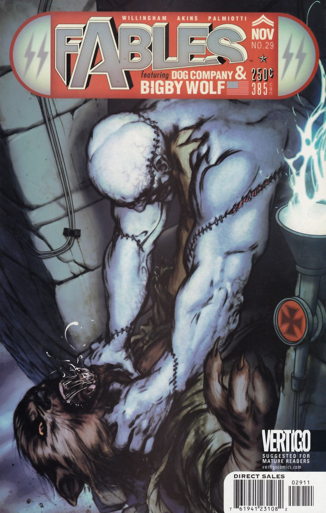 Couverture de Fables (2002) -29- Frankenstein versus the wolfman