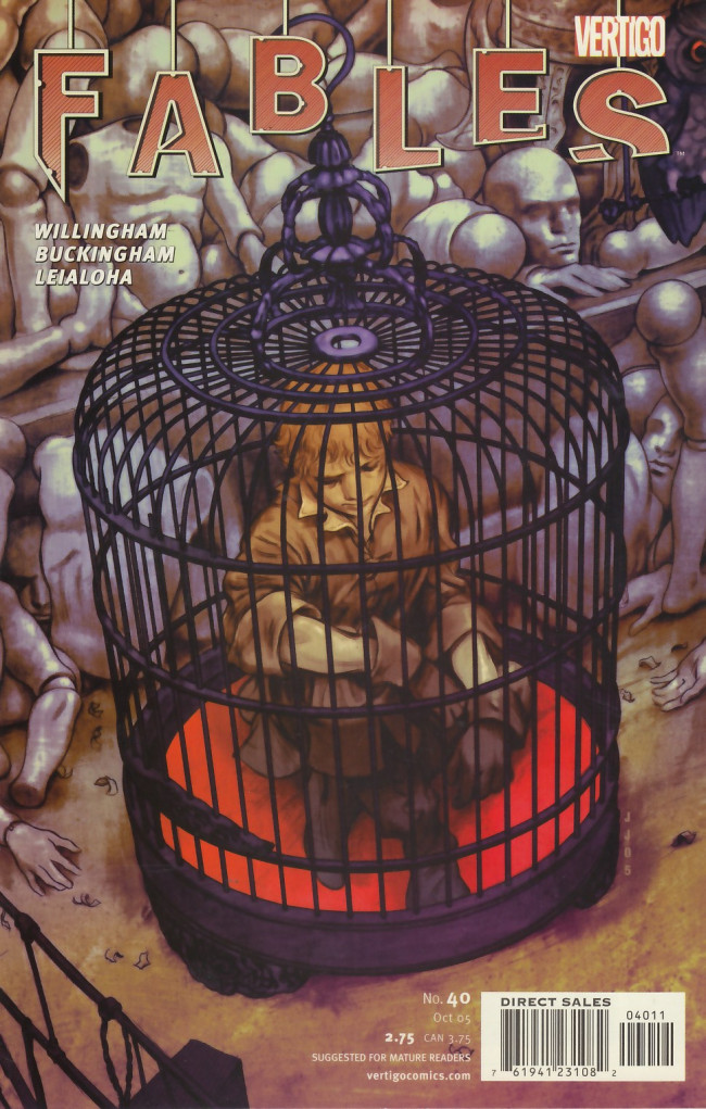 Couverture de Fables (2002) -40- He's only a bird in a gilded cage