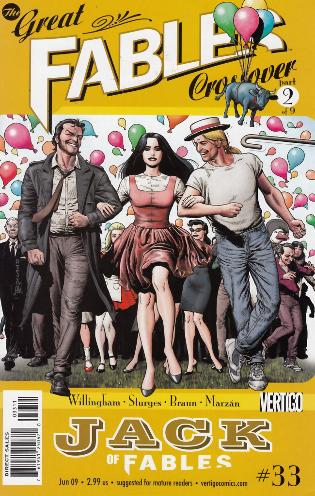 Couverture de Jack of Fables (2006) -33- The great fables crossover part 2 of 9: Swap meet