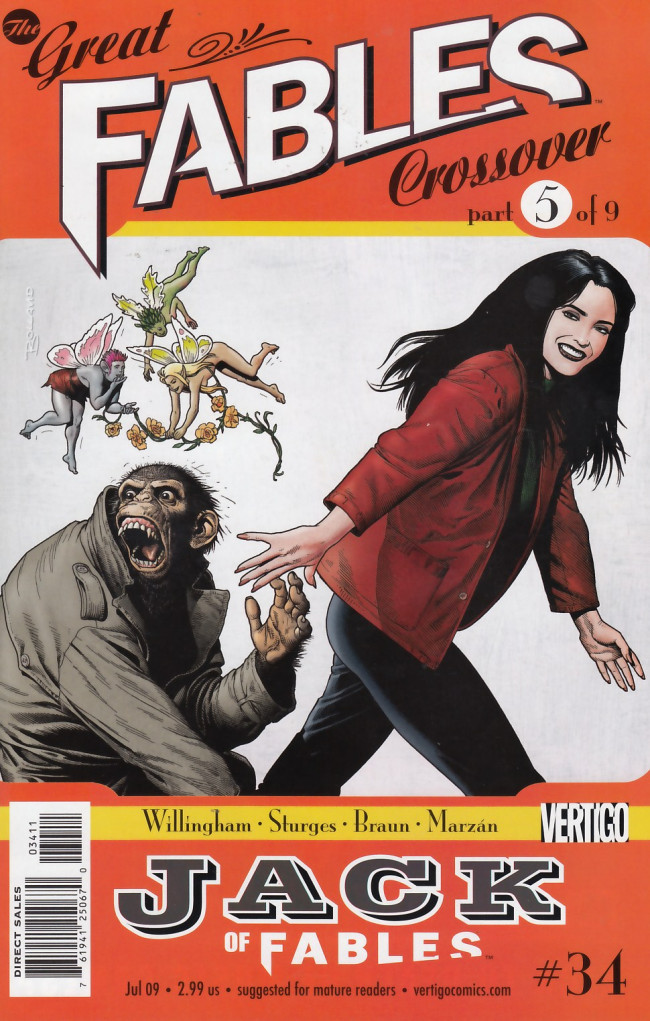 Couverture de Jack of Fables (2006) -34- The great fables crossover part 5 of 9: Ch-ch-changes