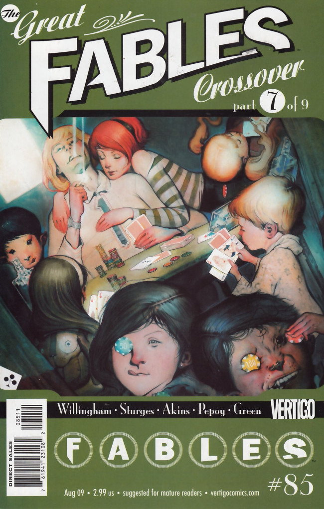 Couverture de Fables (2002) -85- The great fables crossover part 7 of 9: A pair of Jacks