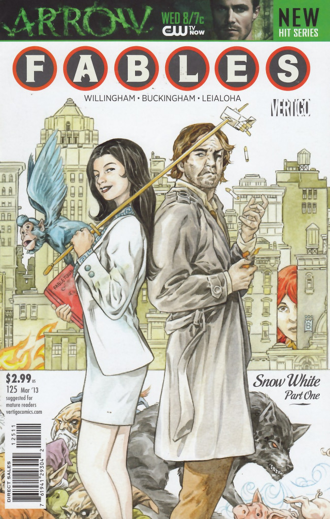 Couverture de Fables (2002) -125- Riding in cars with gods