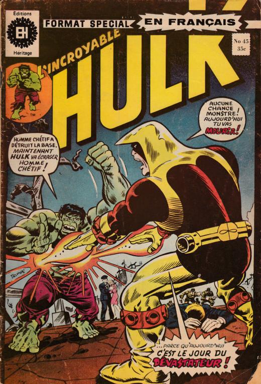 Couverture de L'incroyable Hulk (Éditions Héritage) -45- C'est le jour du Dévastator !