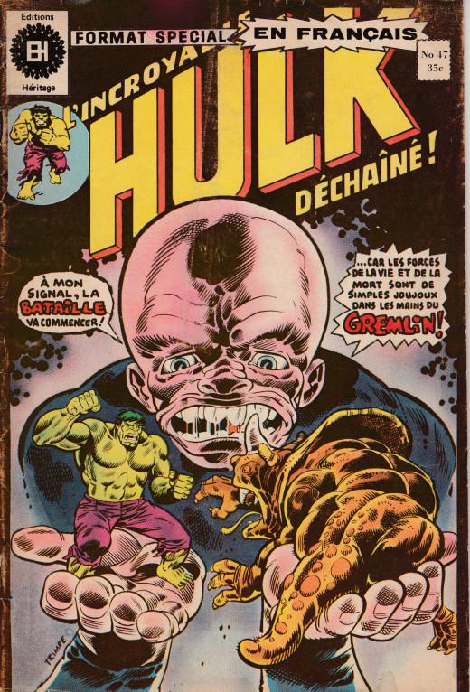 Couverture de L'incroyable Hulk (Éditions Héritage) -47- L'esprit triomphe de la violence !