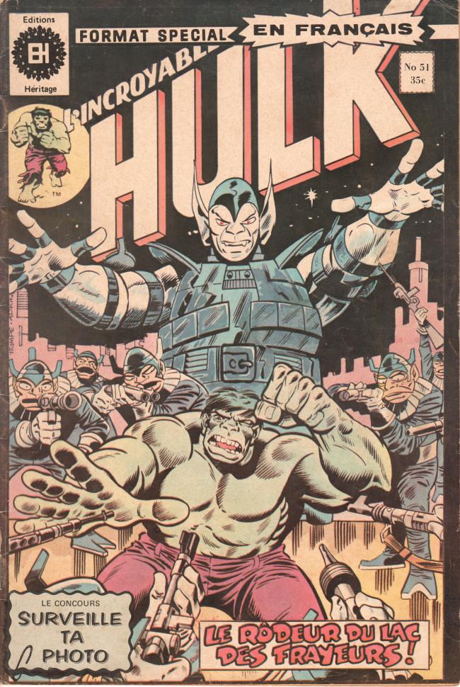 Couverture de L'incroyable Hulk (Éditions Héritage) -51- Le rôdeur du lac