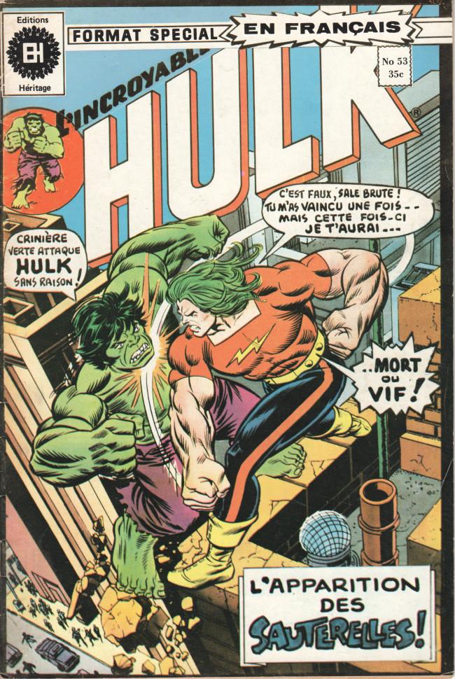 Couverture de L'incroyable Hulk (Éditions Héritage) -53- Le jour de la sauterelle !