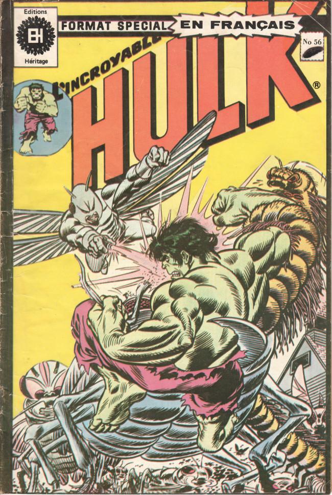 Couverture de L'incroyable Hulk (Éditions Héritage) -56- Avec l'Homme-Chose ça fait trois !