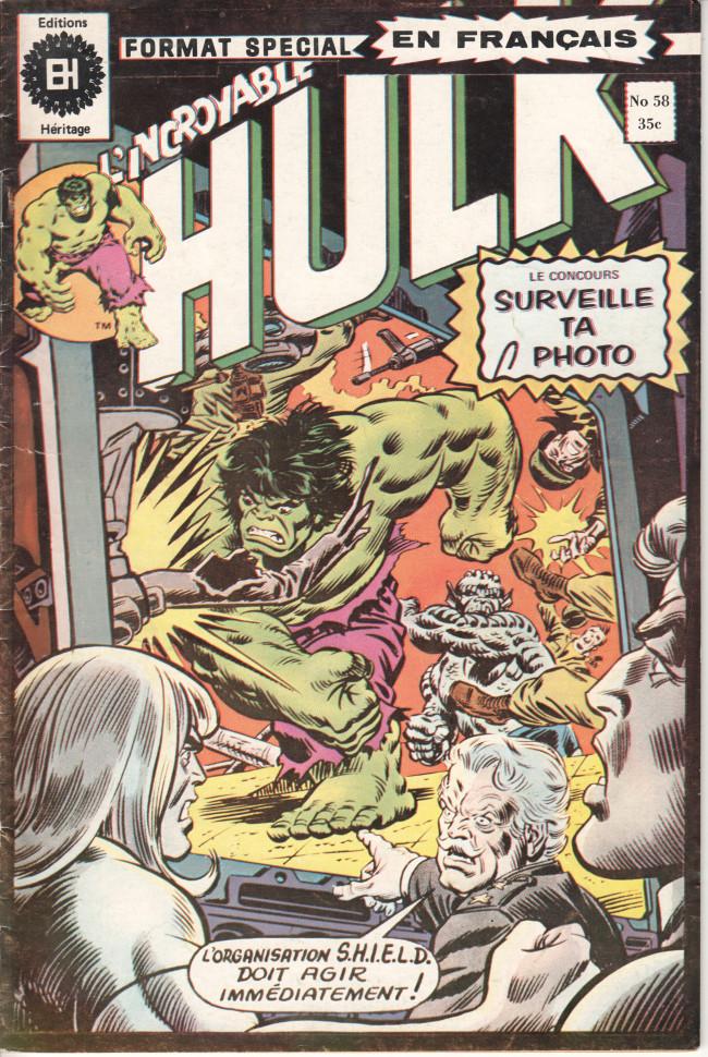 Couverture de L'incroyable Hulk (Éditions Héritage) -58- Et SHIELD devra suivre