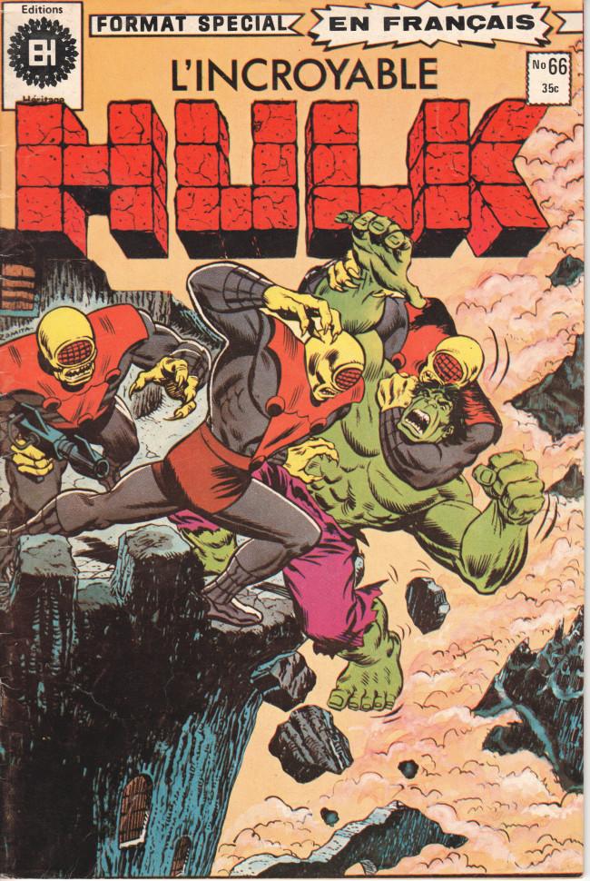 Couverture de L'incroyable Hulk (Éditions Héritage) -66- Seul contre les défenseurs