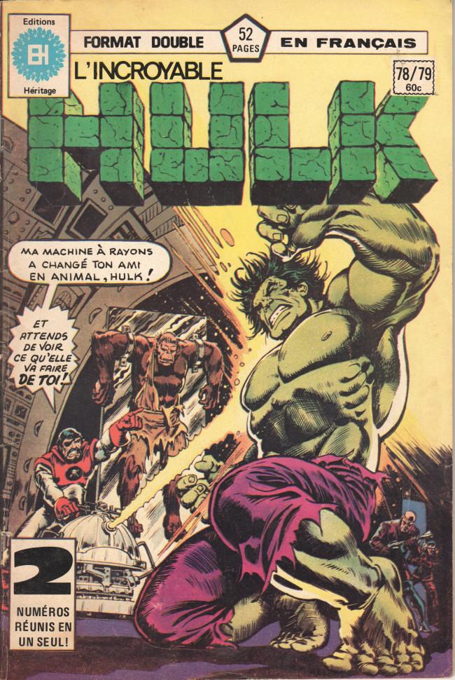 Couverture de L'incroyable Hulk (Éditions Héritage) -7879- Furie par 5000 brasses !
