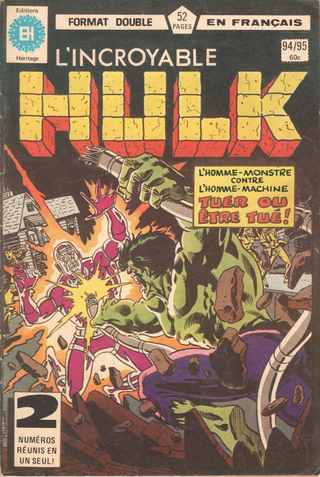 Couverture de L'incroyable Hulk (Éditions Héritage) -9495- Tue ou meurs