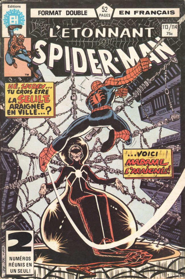 Couverture de L'Étonnant Spider-Man (Éditions Héritage) -113114- La prophétie de Madame Web !