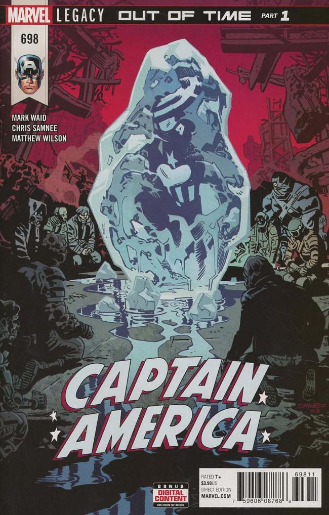Couverture de Captain America (Marvel comics - 1968) -698- Out of Time - Part 1