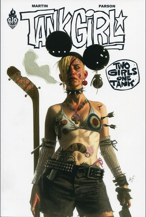 Couverture de Tank Girl -9- Two girls one tank