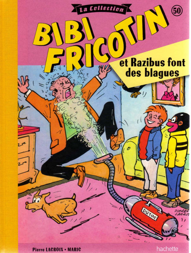 Couverture de Bibi Fricotin (Hachette - la collection) -50- Bibi Fricotin et Razibus font des blagues