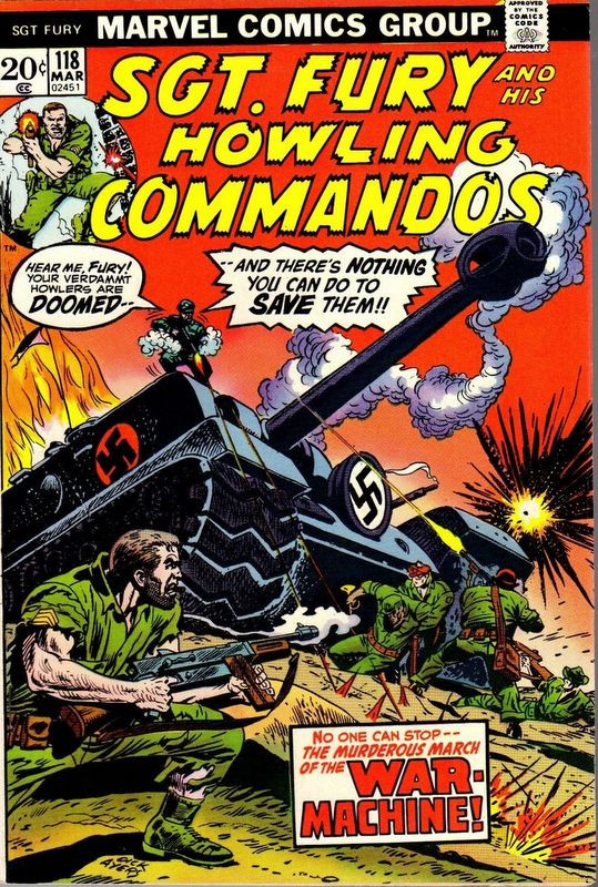 Couverture de Sgt. Fury and his Howling Commandos (Marvel - 1963) -118- The War Machine !