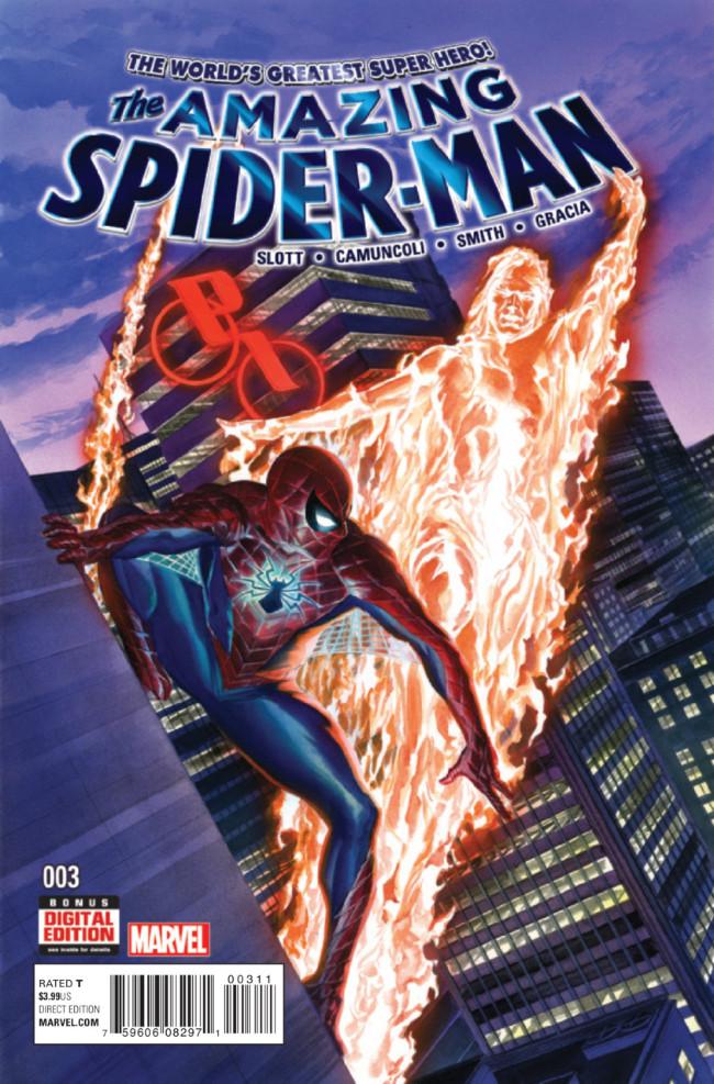 Couverture de Amazing Spider-Man (The) (2015) -3- Friendly Fire
