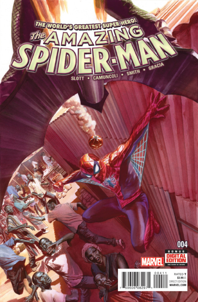 Couverture de Amazing Spider-Man (The) (2015) -4- High Priority
