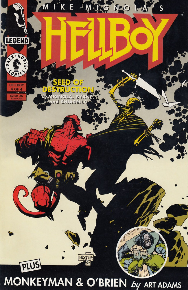 Couverture de Hellboy (1994) -4- Seeds of destruction Part 4