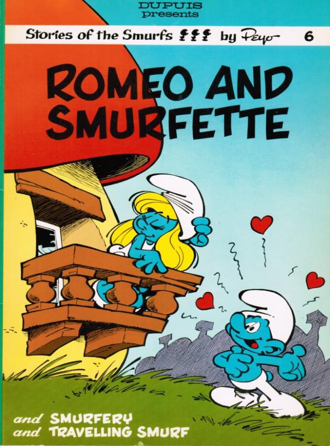 Couverture de SMURFS (les Schtroumpfs en anglais, Dupuis) -6- Romeo and Smurfette