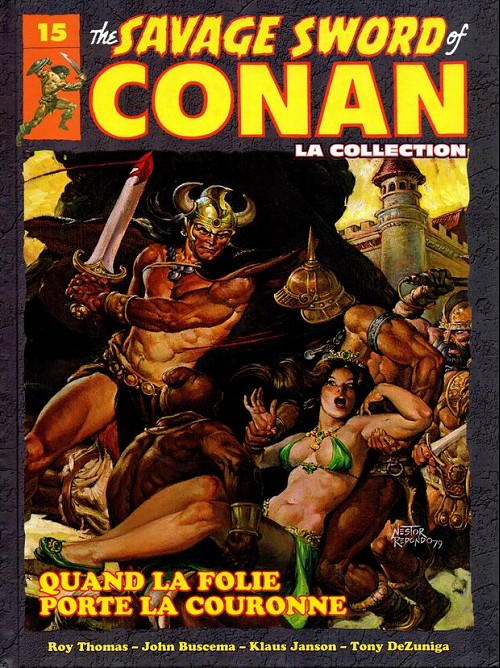 Couverture de Savage Sword of Conan (The) - La Collection (Hachette) -15- Quand la folie porte la couronne