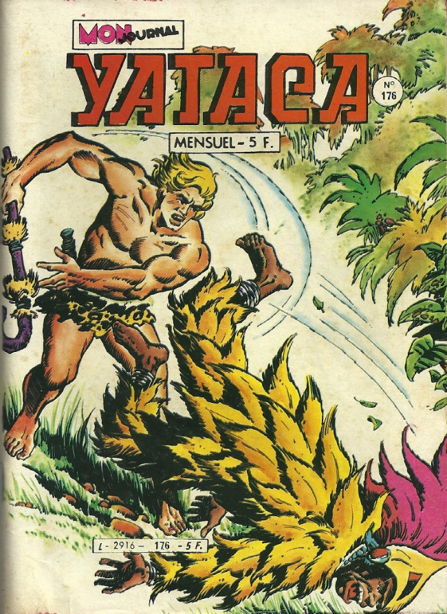 Couverture de Yataca (Fils-du-Soleil) -176- La monstre du Nyassa