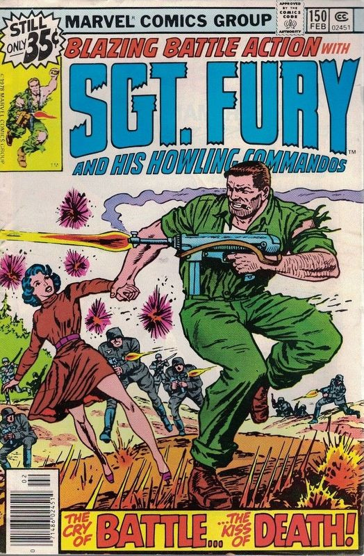 Couverture de Sgt. Fury and his Howling Commandos (Marvel - 1963) -150- The cry of battle...the kiss of death !