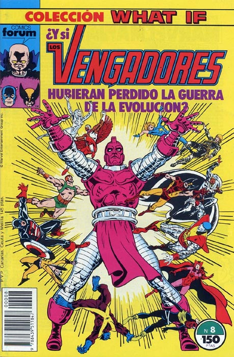 Couverture de What If? (édition espagnole) -8- ¿Y si Los Vengadores hubieran perdido La Guerra de la Evolución?