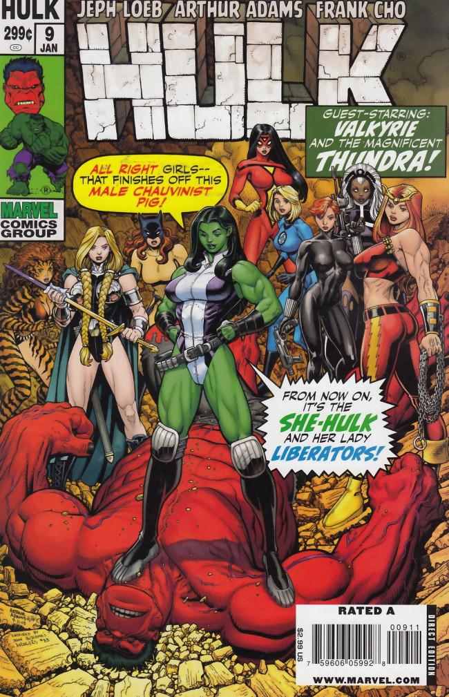 Couverture de Hulk Vol.2 (Marvel comics - 2008) -9- Jackpot/The Revenge of the Lady Liberators