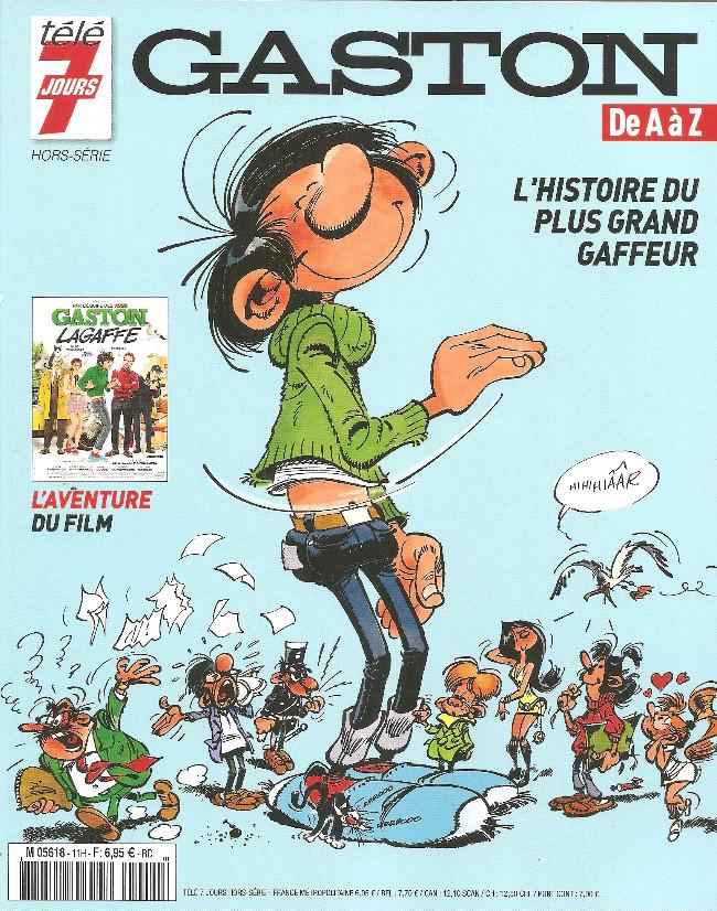 Couverture de Gaston (Hors-série) - Gaston de A à Z (L'histoire du plus grand gaffeur)