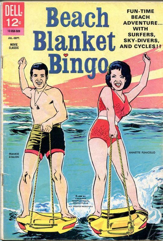 Couverture de Movie Classics (Dell - 1962) -509- Beach Blanket Bingo