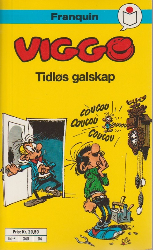 Couverture de Gaston (en norvégien) -4a90- Tidlos galskap
